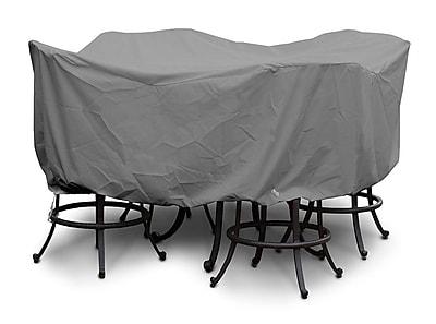KoverRoos Weathermax Large Bar Set Cover w/ Umbrella Hole; Grey