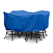 KoverRoos Weathermax  Large Bar Set Cover w/ Umbrella Hole; Pacific Blue