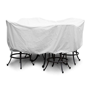 KoverRoos Weathermax Large Bar Set Cover w/ Umbrella Hole; White