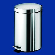 Gedy by Nameeks Argenta 1.47 Gallon Step-On Stainless Steel Trash Can; Stainless Steel