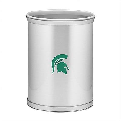 Kraftware Collegiate 3.25 Gallon Waste Basket; Michigan