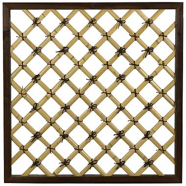 Oriental Furniture Traditional Wood Lattice Panel Trellis