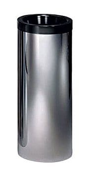 Peter Pepper Cylindrical Waste Basket; Black