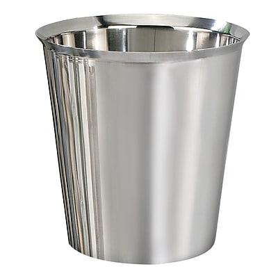 NU Steel Gloss 1.625 Gallon Waste Basket