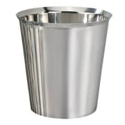 NU Steel Gloss 1.625 Gallon Stainless Steel Trash Can