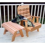 Creekvine Designs Cedar Twin Ponds Chair and Table Set; No Finish