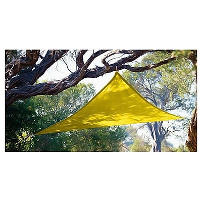 Coolaroo Triangle 10ft. Party Sail; Yellow
