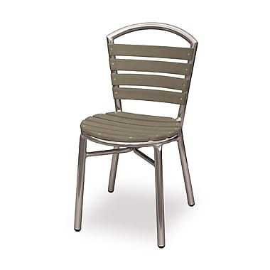 Source Contract Milano Dining Side Chair; Grey / Teak