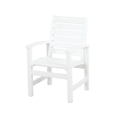 POLYWOOD Signature Patio Dining Chair; White