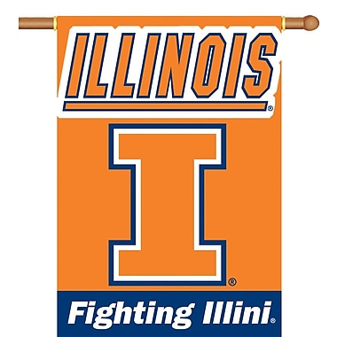 BSI Products NCAA 2-Sided Banner; Illinois