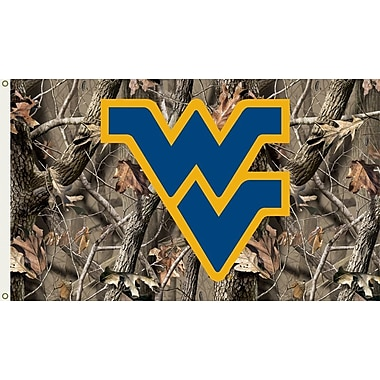 BSI Products NCAA Realtree Camo Traditional Flag; West Virginia