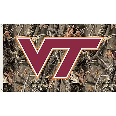 BSI Products NCAA Realtree Camo Traditional Flag; Virginia Tech