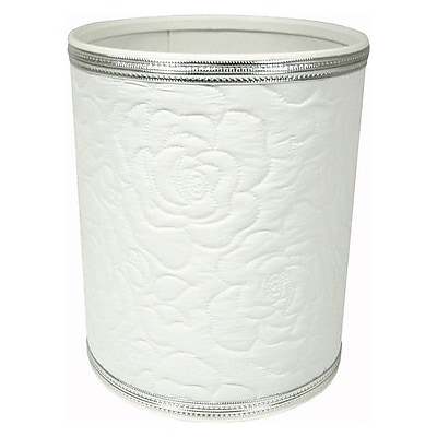 Redmon Traditional Times Waste Basket; Silver