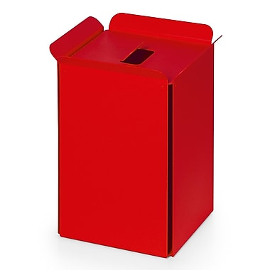 WS Bath Collections Complements Bandoni 5 Gallon Trash Can; Red