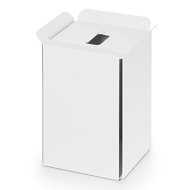WS Bath Collections Complements Bandoni 5 Gallon Trash Can; White