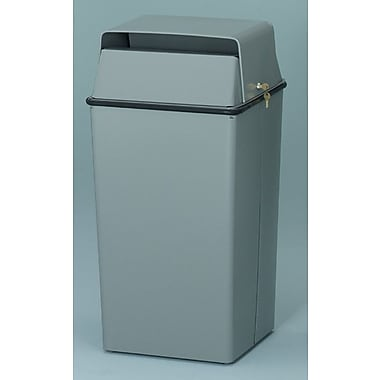 Witt Secure Document Container 36 Gallon Swing Top Trash Can; Almond