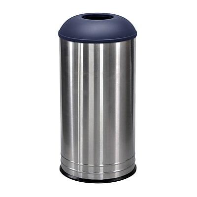 Ex-Cell Kaiser International 18 Gallon Recycling Bin; Indigo Texture