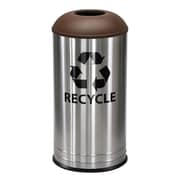 Ex-Cell Kaiser Stainless Steel 18 Gallon Recycling Bin; Brown Texture