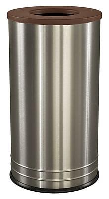 Ex-Cell Kaiser International 18 Gallon Recycling Bin; Brown Texture