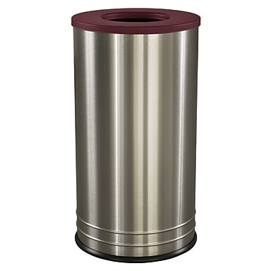 Ex-Cell Kaiser International 18 Gallon Recycling Bin; Burgundy Texture