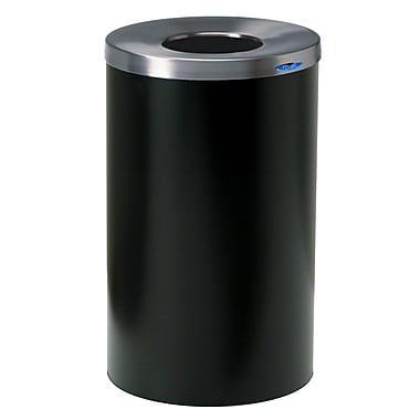 Frost Receptacle 32 Gallon Trash Can; Black