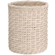 OIA Organize It All Natural Waste Basket; White