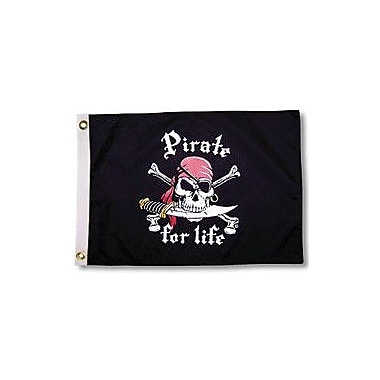 Taylor Made Products Pirate Heads 'Pirate for Life' Traditional Flag