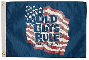 Taylor Made Products Old Guys Rule 'A Life Well Served' Traditional Flag
