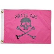 Taylor Made Products Pirate Heads 'Pirate Girl' Traditional Flag