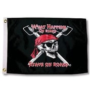 Taylor Made Products Pirate Heads 'What Happens on Board Stays on Board' Traditional Flag
