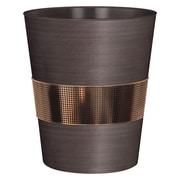 NU Steel Selma 2.25 Gallon Metal Trash Can; Bronze