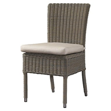 Padmas Plantation Outdoor Cottage Dining Side Chair w/ Cushion