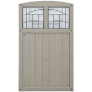 Yardistry Baycrest 42'' x 68'' Gate w/ Faux Glass Insert; Grey