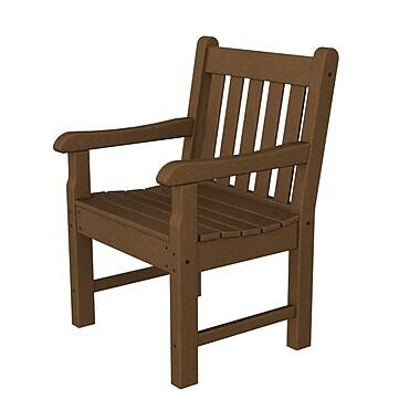 POLYWOOD Rockford Dining Arm Chair; Teak