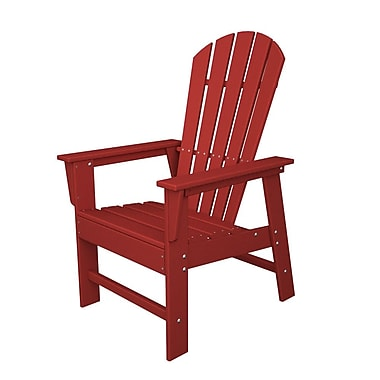 POLYWOOD South Beach Dining Chair; Sunset Red