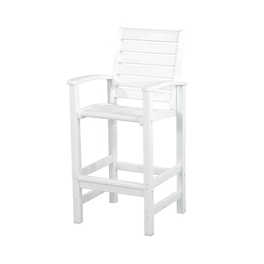 POLYWOOD Signature 30'' Bar Stool; White