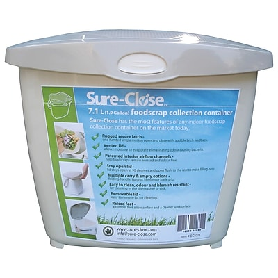 Redmon Sure Close 1.9 Gallon Touch Top Trash Can