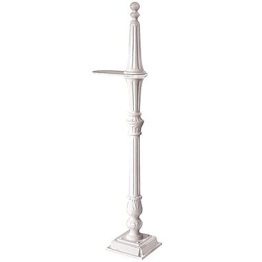 Salsbury Industries Classic 5 Ft. H Surface Mount Decorative Post; White