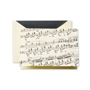 Crane & Co™ Sheet Ecru Note With Envelope, Black Music
