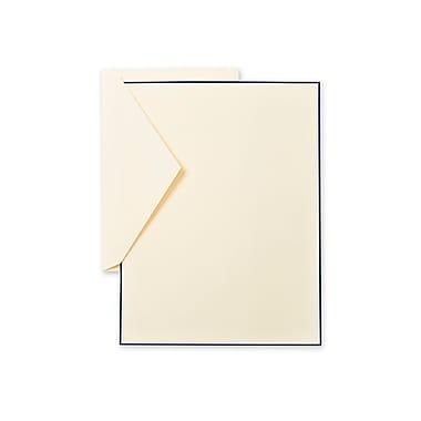 Crane & Co™ Lithographed Ecruwhite Half Sheet With Envelope, Regent Blue Bordered