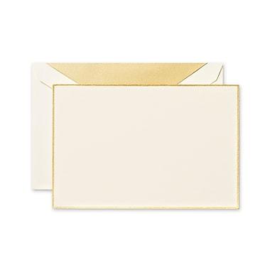 Crane & Co™ Ecruwhite Correspondence Card With Envelope, Gold Bordered