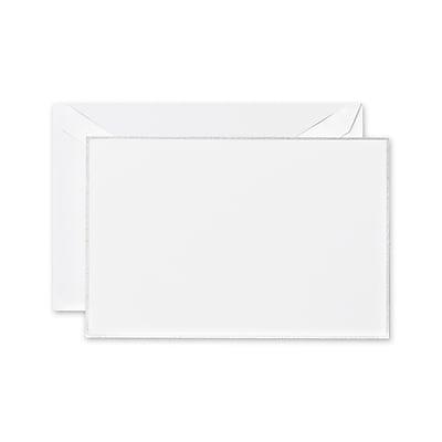 Crane & Co™ Pearl White Correspondence Card With Envelope, Platinum Bordered