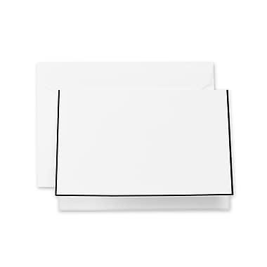 Crane & Co™ Pearl White Note With Envelope, Black Bordered