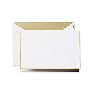 Crane & Co™ Pearl White Note With Envelope, Gold Bordered