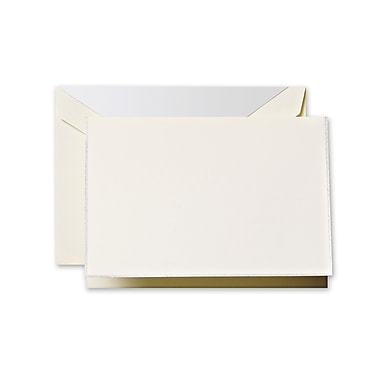 Crane & Co™ Ecru Note With Envelope, Platinum Bordered