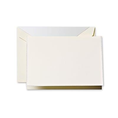 Crane & Co™ Ecru Note With Envelope, Platinum Bordered