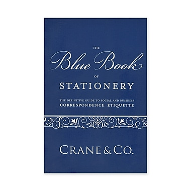 Crane & Co™ Blue Book of Stationery Etiquette Book
