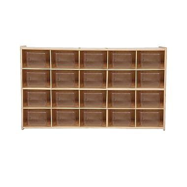Wood Designs™ Contender™ 20 Tray Storage With Translucent Trays, Baltic Birch