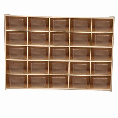 Wood Designs™ Contender™ 25 Tray Storage With Translucent Trays, Baltic Birch