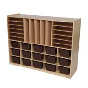 Wood Designs™ Multi-Storage With 15 Brown Trays, Birch